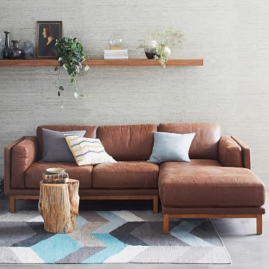 Dekalb Leather 2-Piece Chaise Sectional