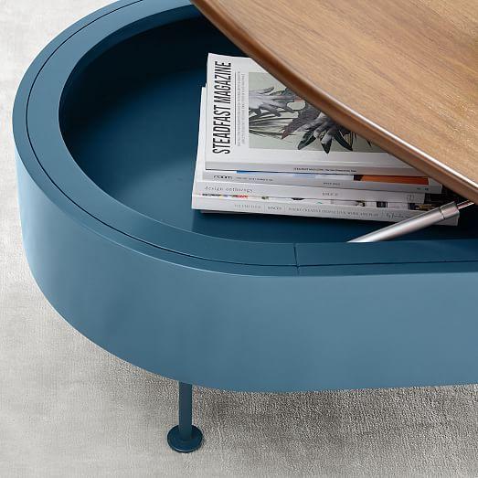 Ruby Storage Coffee Table Petrol Blue
