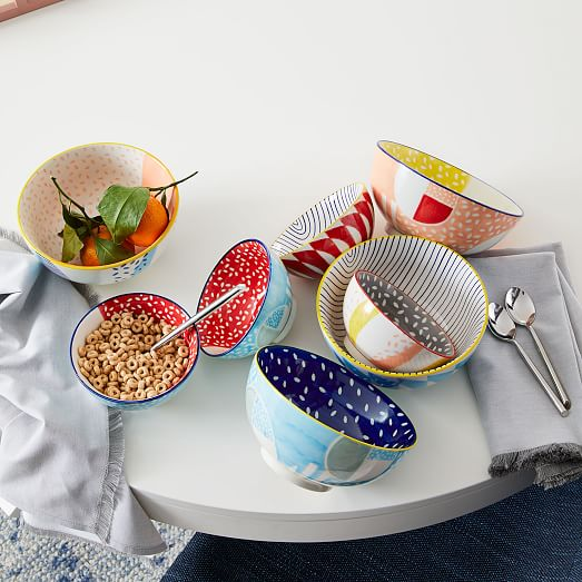 Hand Painted Pattern Pop Bowls Small