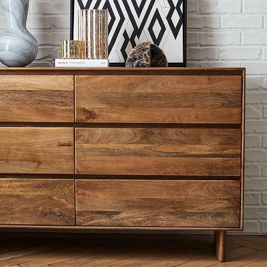 Anton Solid Wood 6 Drawer Dresser