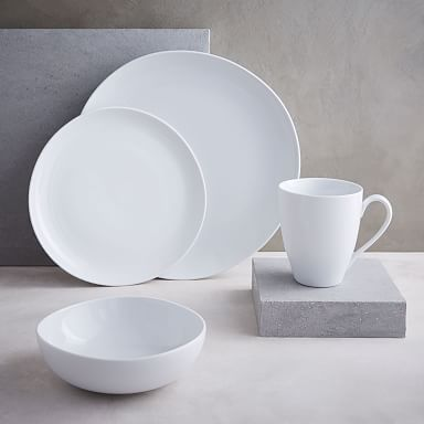Organic Shaped Porcelain Dinnerware Set - White