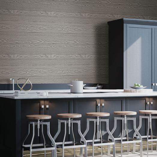 Gray Wood Grain Peel Stick Wallpaper