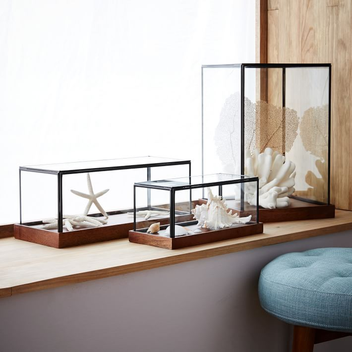 Wood Glass Display Cases Jewelry Organization