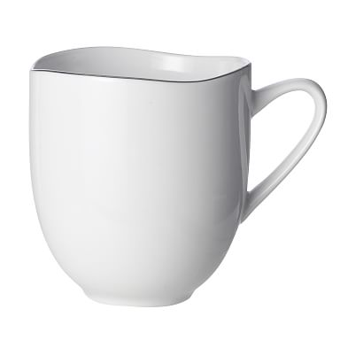 Organic Shaped Mugs - Silver Rimmed