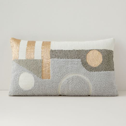 Embellished Deco Contours Pillow Cover