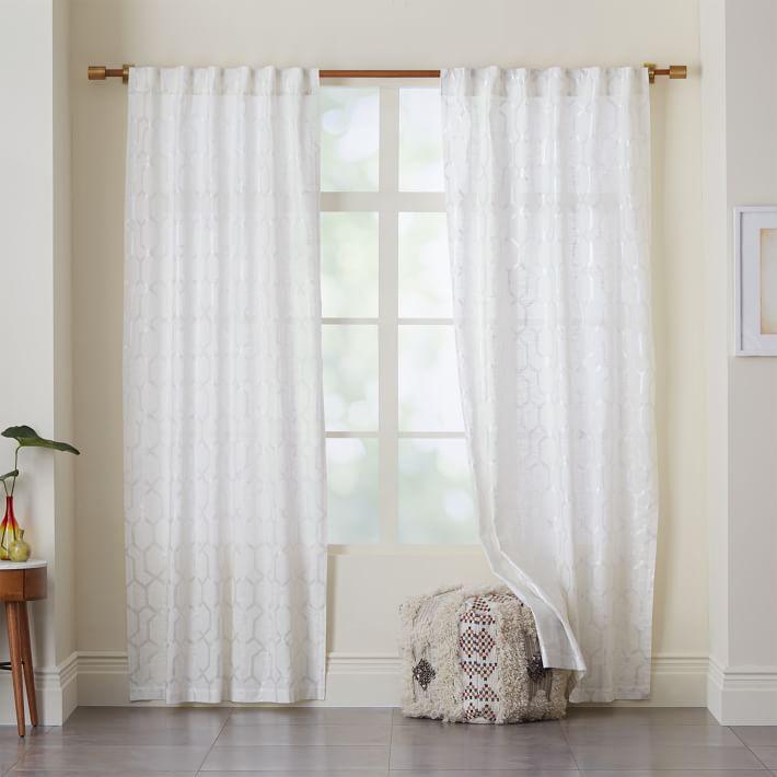 Moorish Tile Printed Curtain