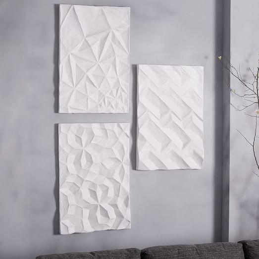 Papier Mache Wall Art Geo Panels
