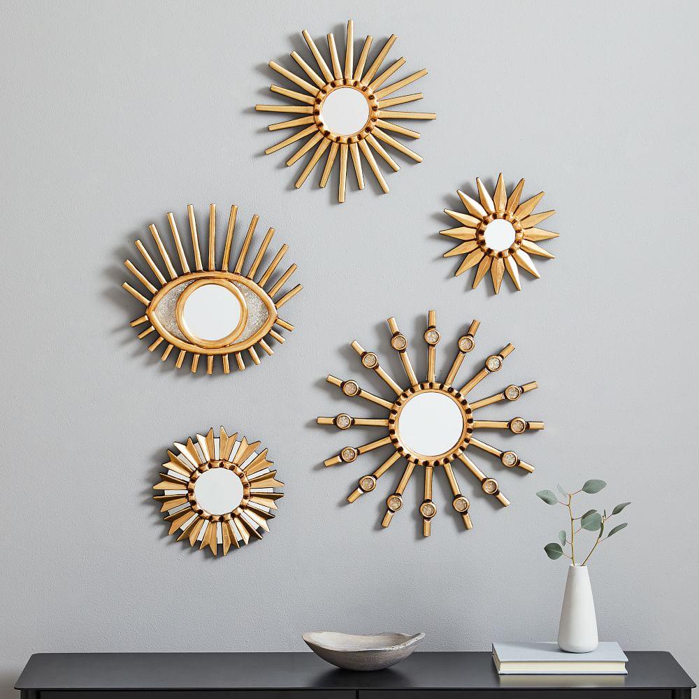 Gold Peruvian Starburst Mirrors
