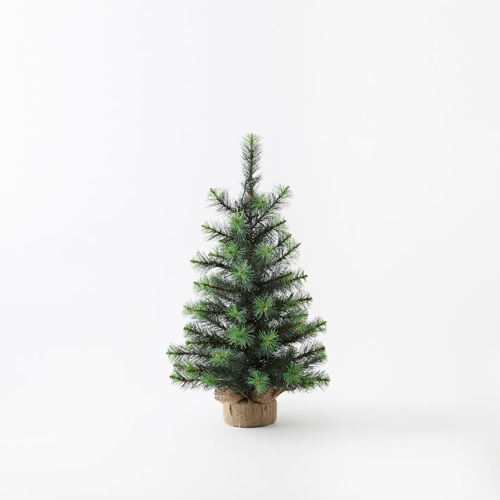 LED Light-Up Tabletop Artificial Christmas Tree | West Elm