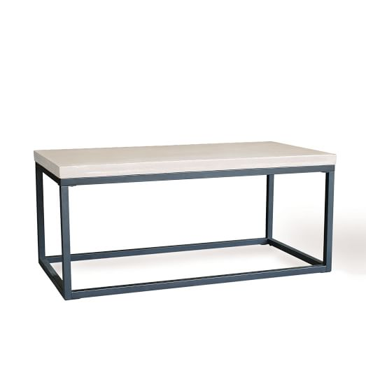 Slab Box Frame Outdoor Coffee Table Rectangle