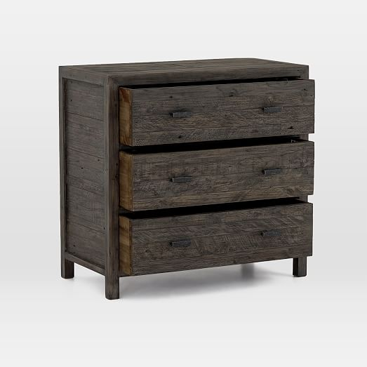 Modern Mixed Reclaimed Wood 3 Drawer