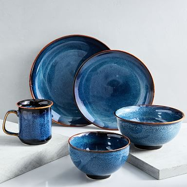 Ocean Waves Porcelain Dinnerware Set