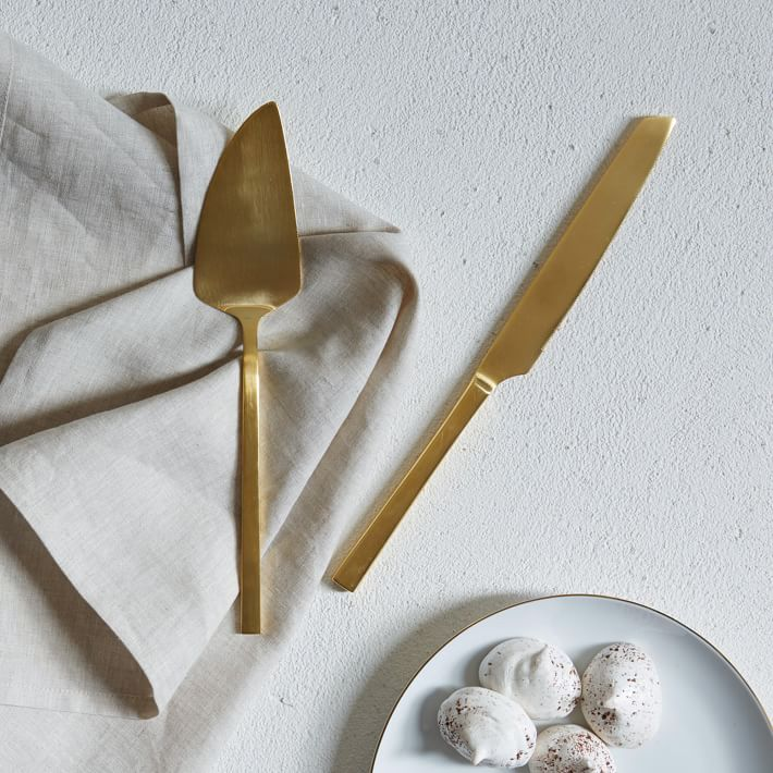 Gold Cake Knife Set