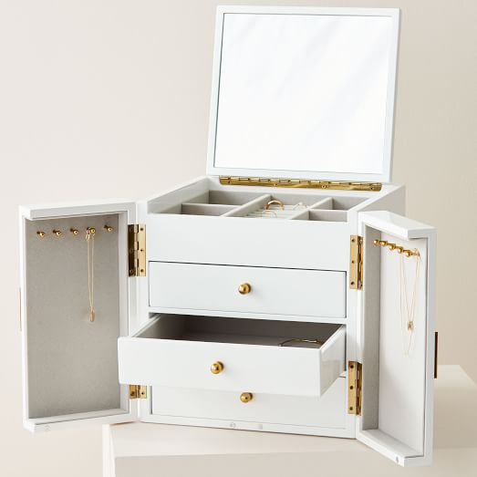 Modern Lacquer Jewelry Box Cube