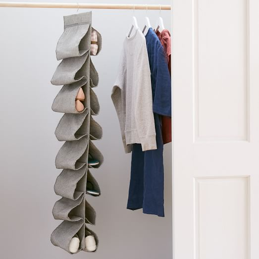 Shoes Drying Rack Hanger Hook Stainless Steel Hanging Shelf Wardrobe Storage
