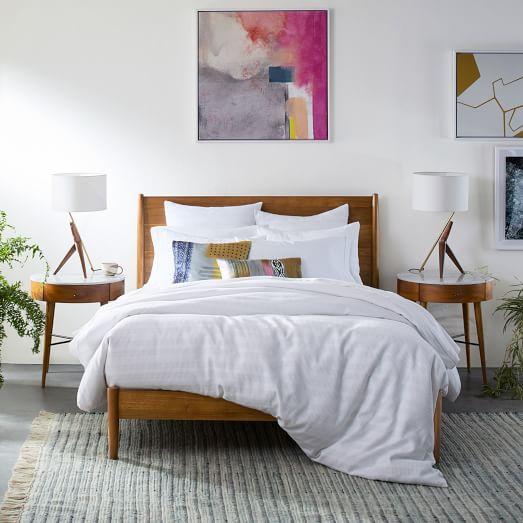 Mid Century Bed, Mid Century Queen Bedspread