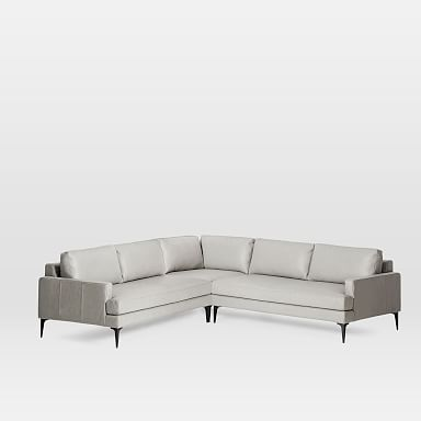 Andes Leather 3-Piece L-Shaped Sectional