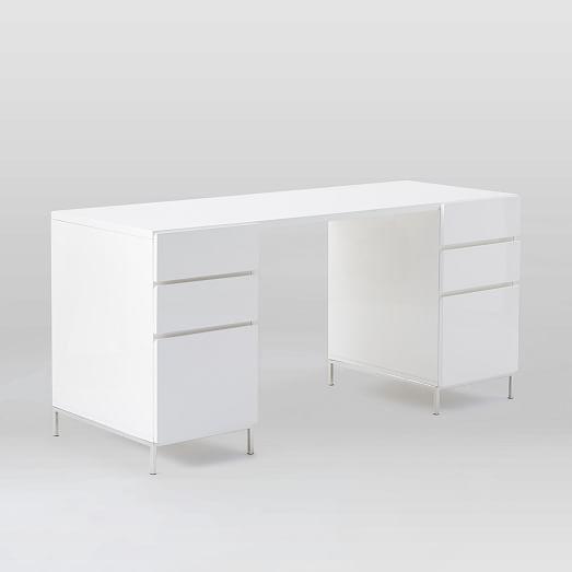 Lacquer Storage Desk Set 2 Box Files