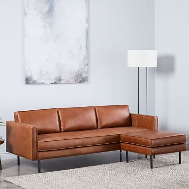 Axel Leather Reversible Sectional