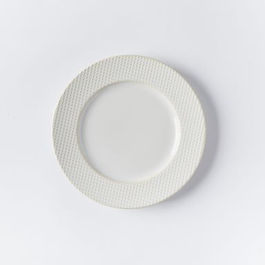 Textured Salad Plates - White (Dots)