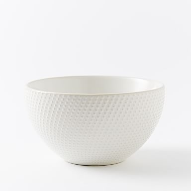 Textured Bowls (Set of 4) - White (Dots)