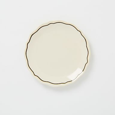 Fishs Eddy Gilded Side Plate - Black/Gold