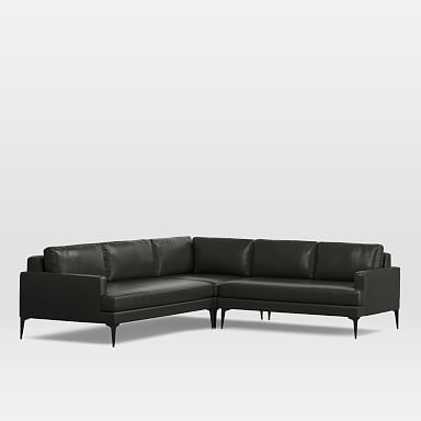 Andes Leather 3-Piece Sectional