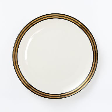 Fishs Eddy Gilded Dinner Plate - Black