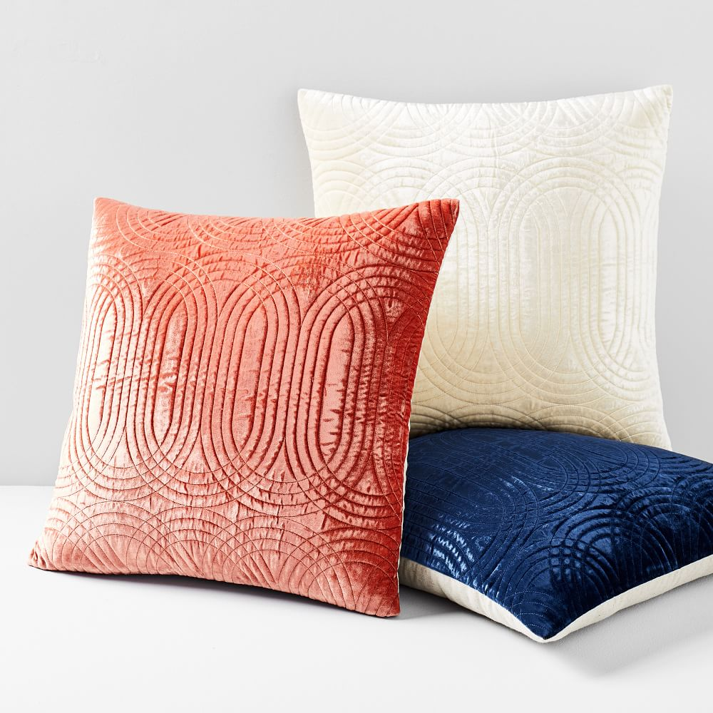 Lush Velvet Infinity Quilted Pillow Cover