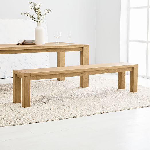 Tahoe Wood Dining Bench Natural Oak