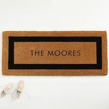 Coco Coir Monogram Doormat Medium West Elm