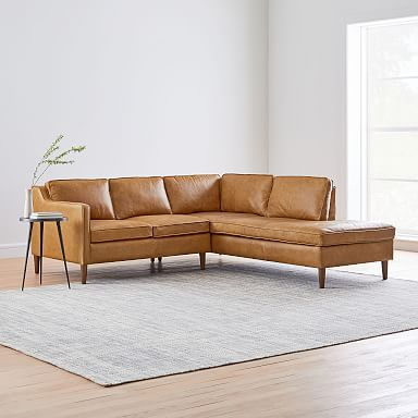 Hamilton Leather 2-Piece Terminal Chaise Sectional