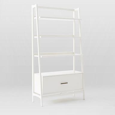 """Mid-Century 38"""" Bookshelf - White"""