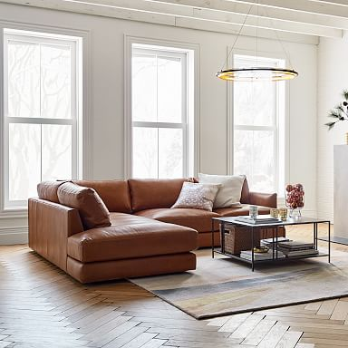 Haven Leather 2-Piece Terminal Chaise Sectional