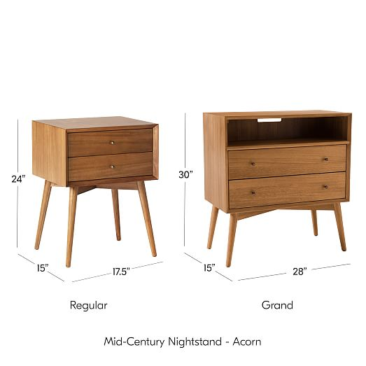 Two Drawer Chest Handcrafted Canvas Bedroom NightstandBedside Table