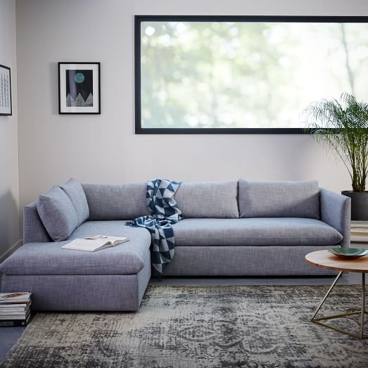 shelter 2 piece terminal chaise sectional