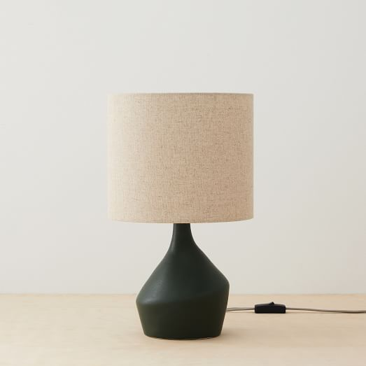 Asymmetry Ceramic Table Lamp Mini, Small Farmhouse Table Lamp