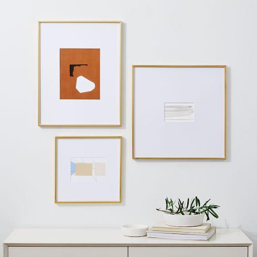 Assorted Metal Gallery Frames Oversized Mat