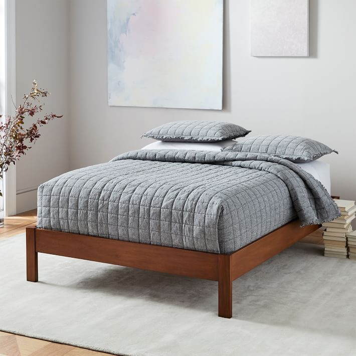 Simple Bed Frame, Queen Bed Frame Easy To Move