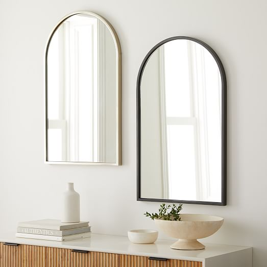 Metal Frame 36 Arched Wall Mirror