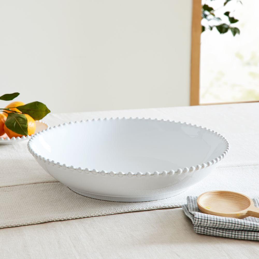 Pearl White Pasta Serving Bowl