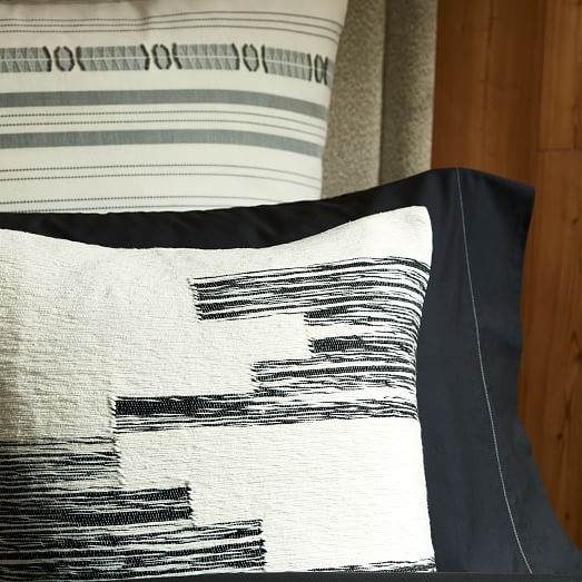 Cotton Variegated Colorblock Pillow Cover