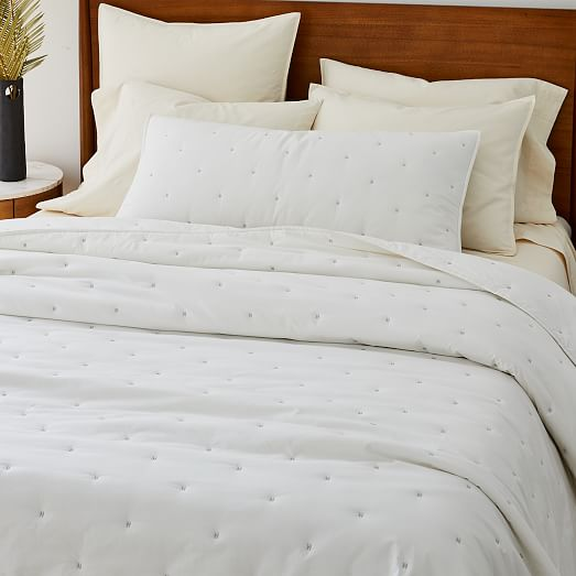 Washed Cotton Percale Quilt Shams