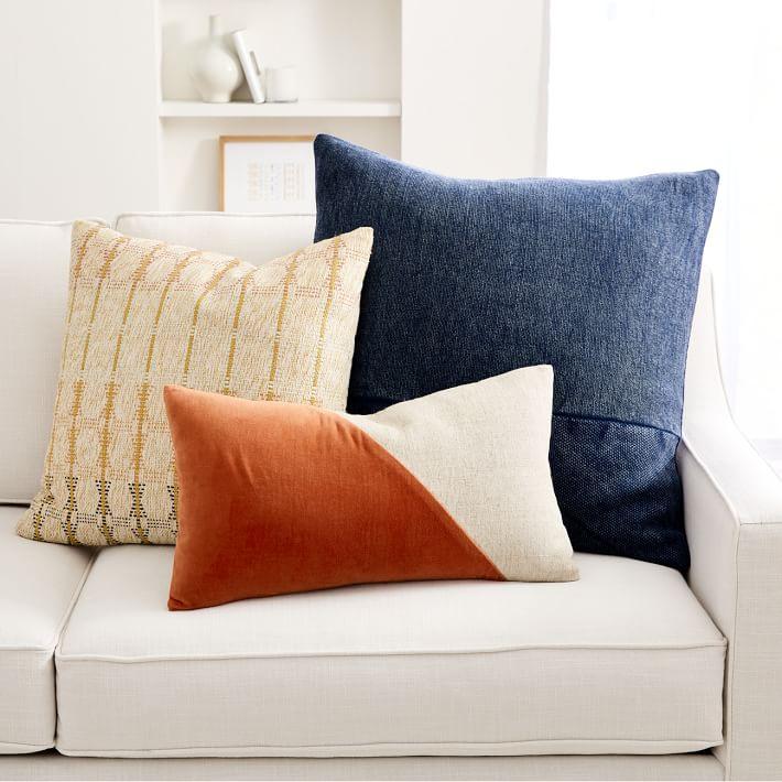 Cotton Linen Velvet Corners Pillow Cover