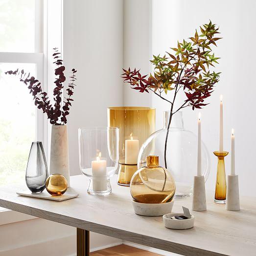 Foundations Glass Vases Amber