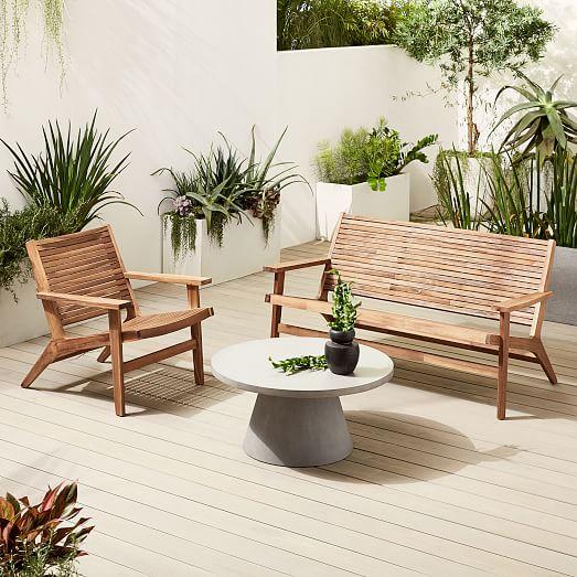 Acadia Outdoor Loveseat Lounge Chair Set, West Elm Outdoor Furniture