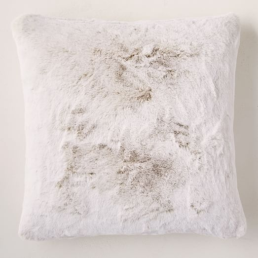 Faux Fur Chinchilla Pillow Cover