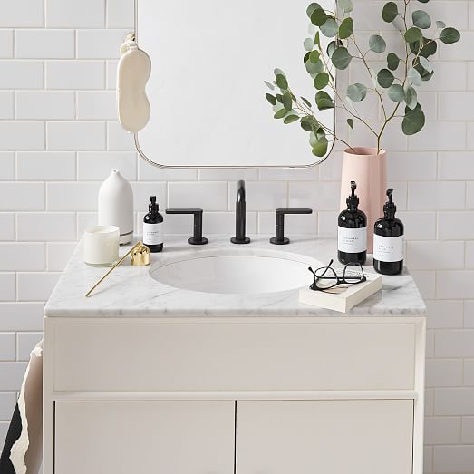 Mid Century Single Bathroom Vanity 31 5 White