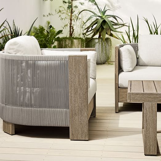 Porto Outdoor Sofa Lounge Chair, West Elm Outdoor Furniture