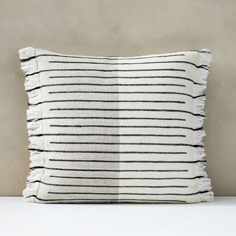 Cotton Silk Broken Stripe Pillow Cover